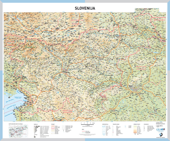 Geago School Map Of Slovenia Geago Zemljevidi Karte